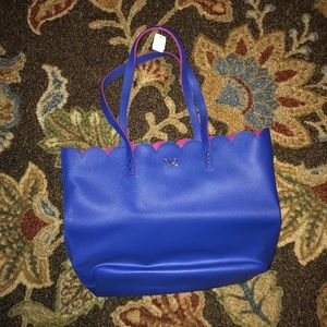 Handbags - Blue leather tote